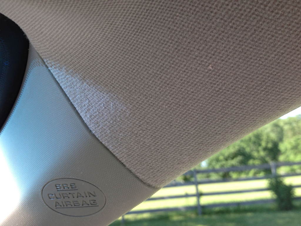 Car ceiling fabric falling headliners car ceiling fabric repair 28 images auto upholstery for How to fix car interior roof