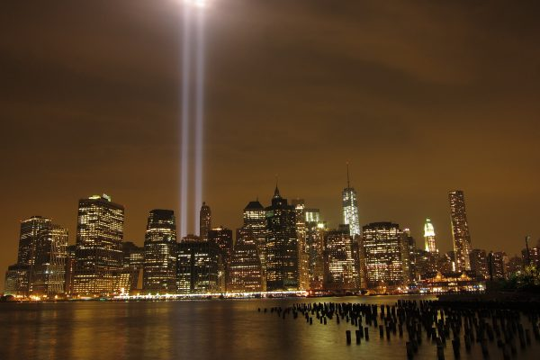 9/11 Tribute In Light - Royalty Free Stock Photos